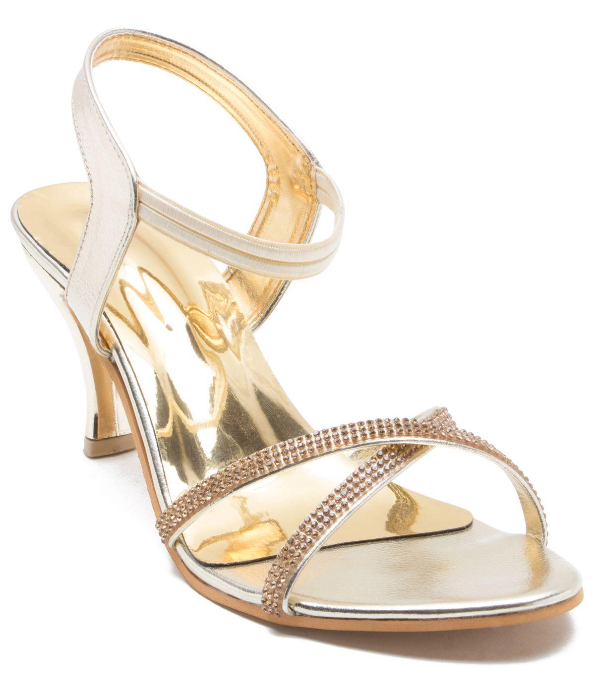 ZAIRA & SAIRA Gold Kitten Heels