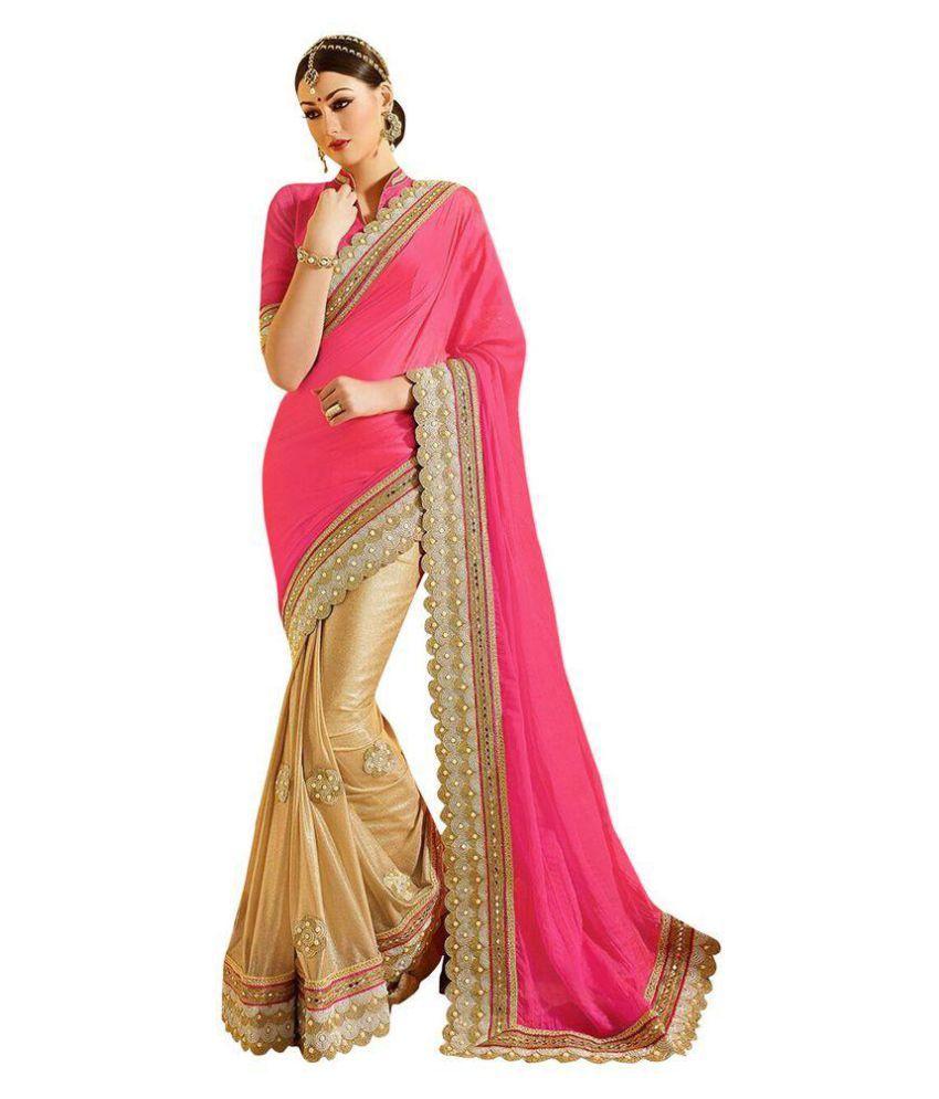 Party-Wear Bollywood Sadi Multicoloured Cotton Silk Saree