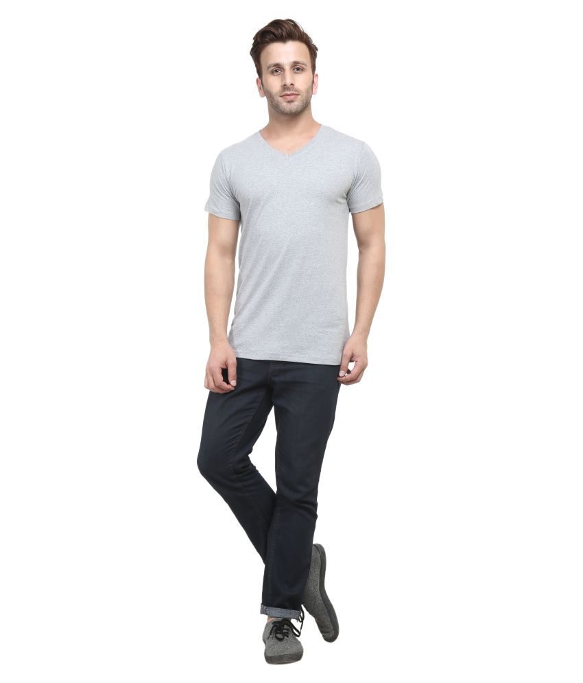 ACOMHARC INC Grey V-Neck T-Shirt Pack of 1