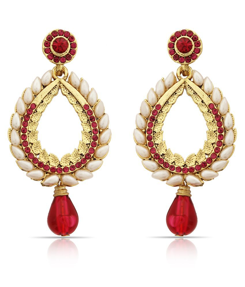 Aadita Ethnic Traditional Gold Plated Dangle and Drop Earrings for Women