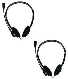 Zebronics zeb-15HMV Over Ear Wired Headphones With Mic (Pack of 2)