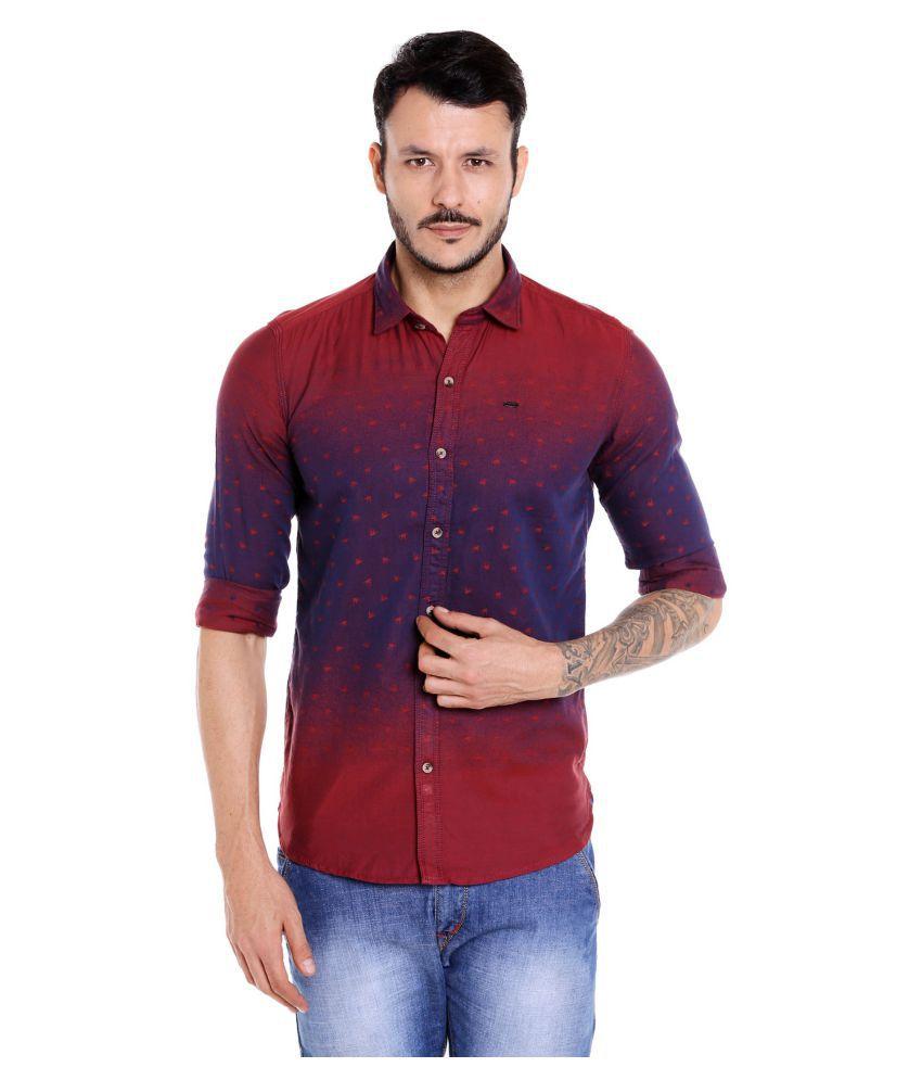 DONEAR NXG Red Slim Fit Shirt