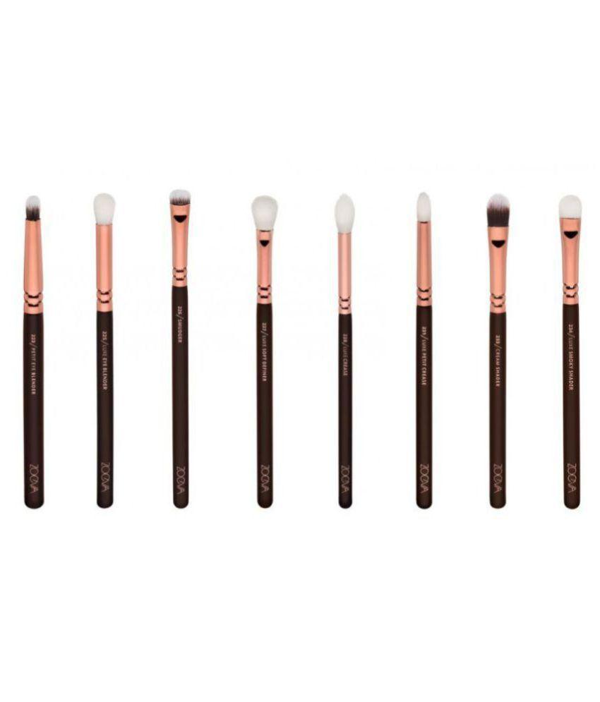 Zoeva Brushes Makeup Artist Zoe Bag Rose Golden Vol1 Set Of 30 Buy Dark Brown 8 Piece Bursh