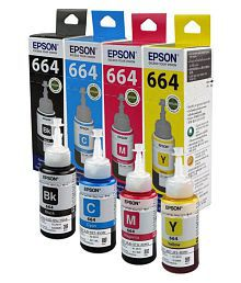 Epson T664 Multicolor Ink Pack of 4