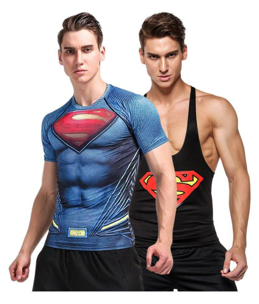Visach Multi Round T-Shirt Pack of 2