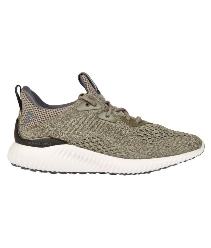 9f235e626 Adidas ALPHABOUNCE EM M Tan Running Shoes .. ...