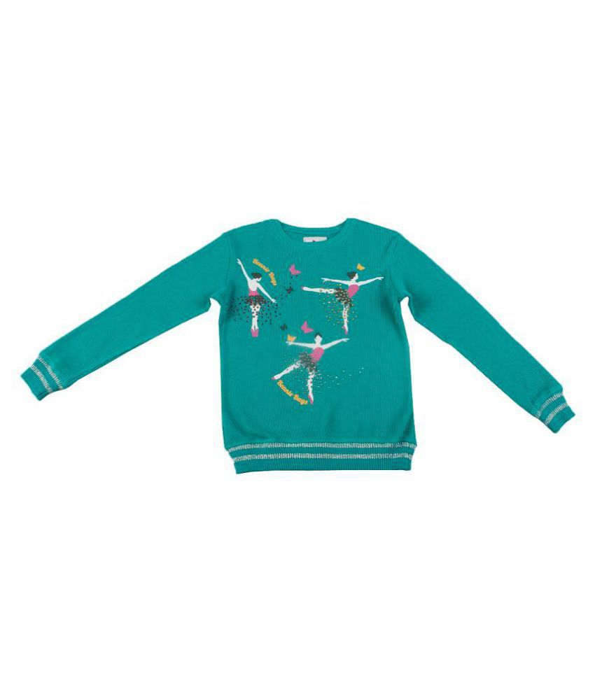 Beanie Bugs Printed Sweatshirt With stone work For Older Girls