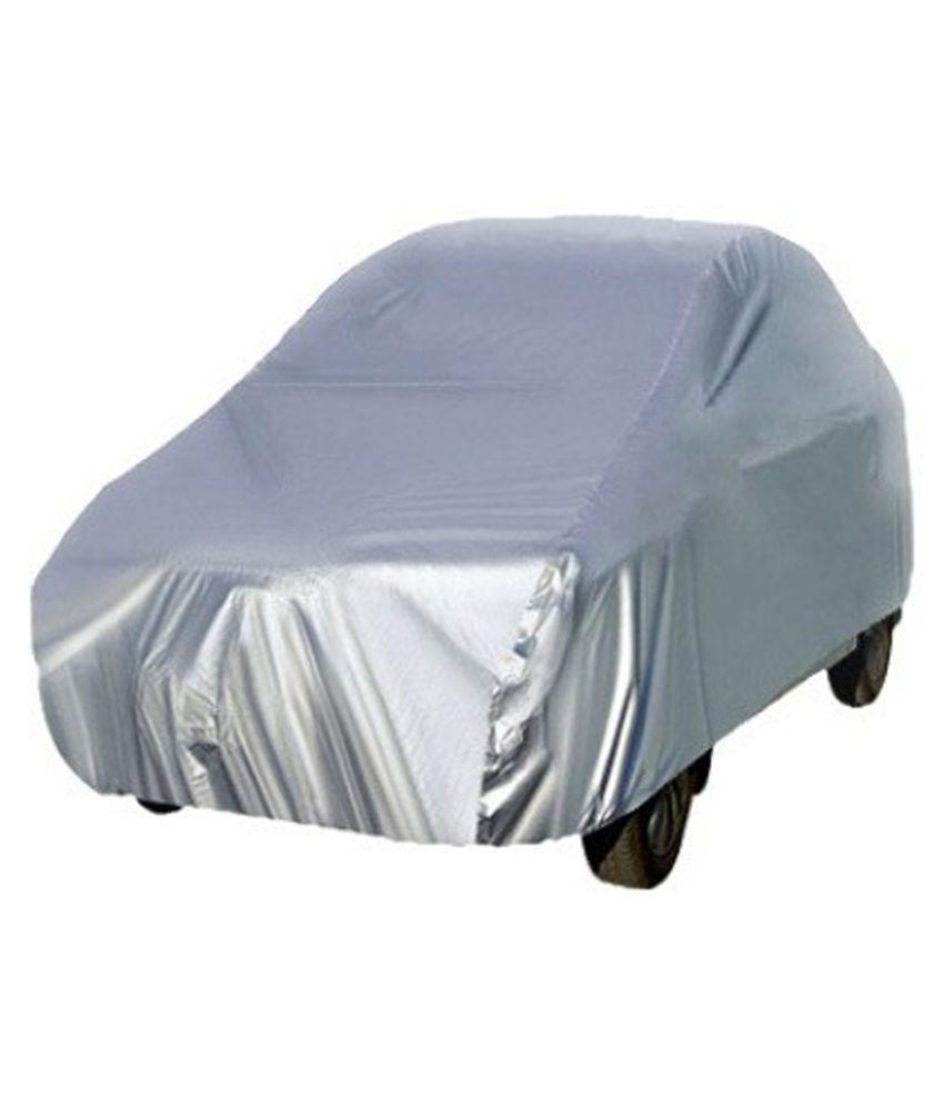Ek Retail Shop Car Body Cover Solid Colour Silver