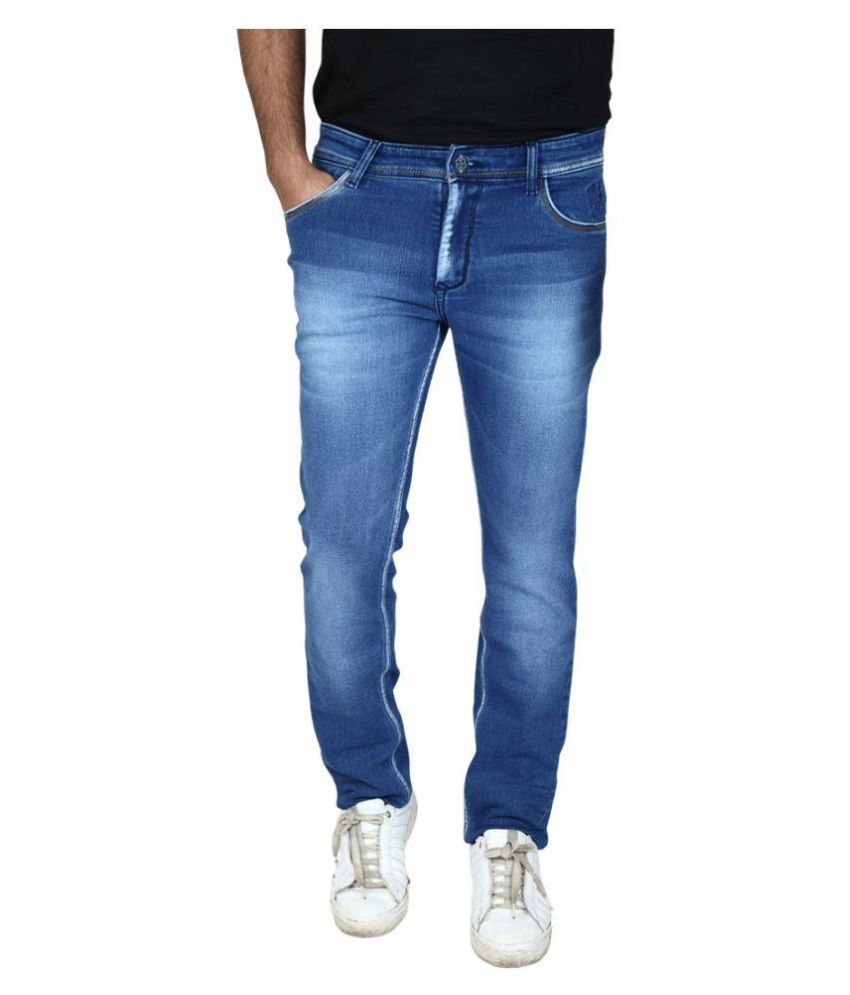 Hasasi Denim Indigo Blue Regular Fit Jeans