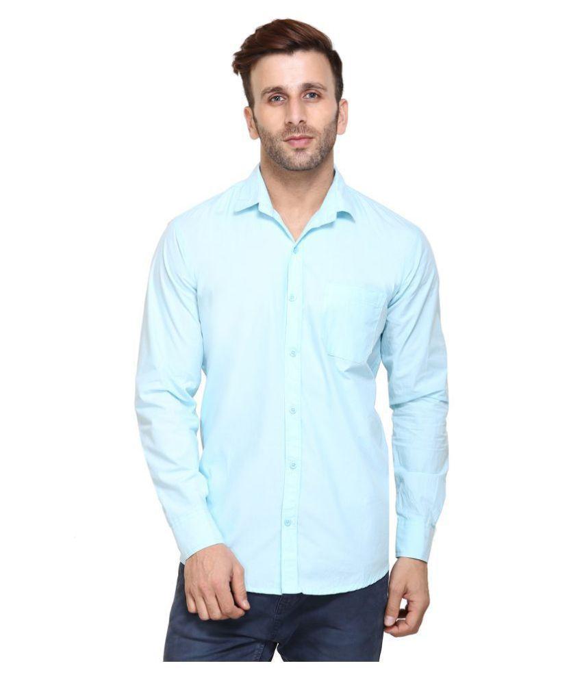 Maggivox Blue Formal Regular Fit Shirt