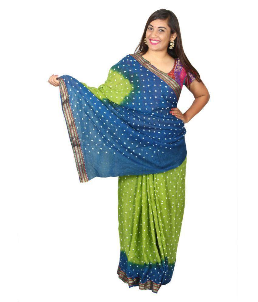 KAJCI Multicoloured Cotton Saree
