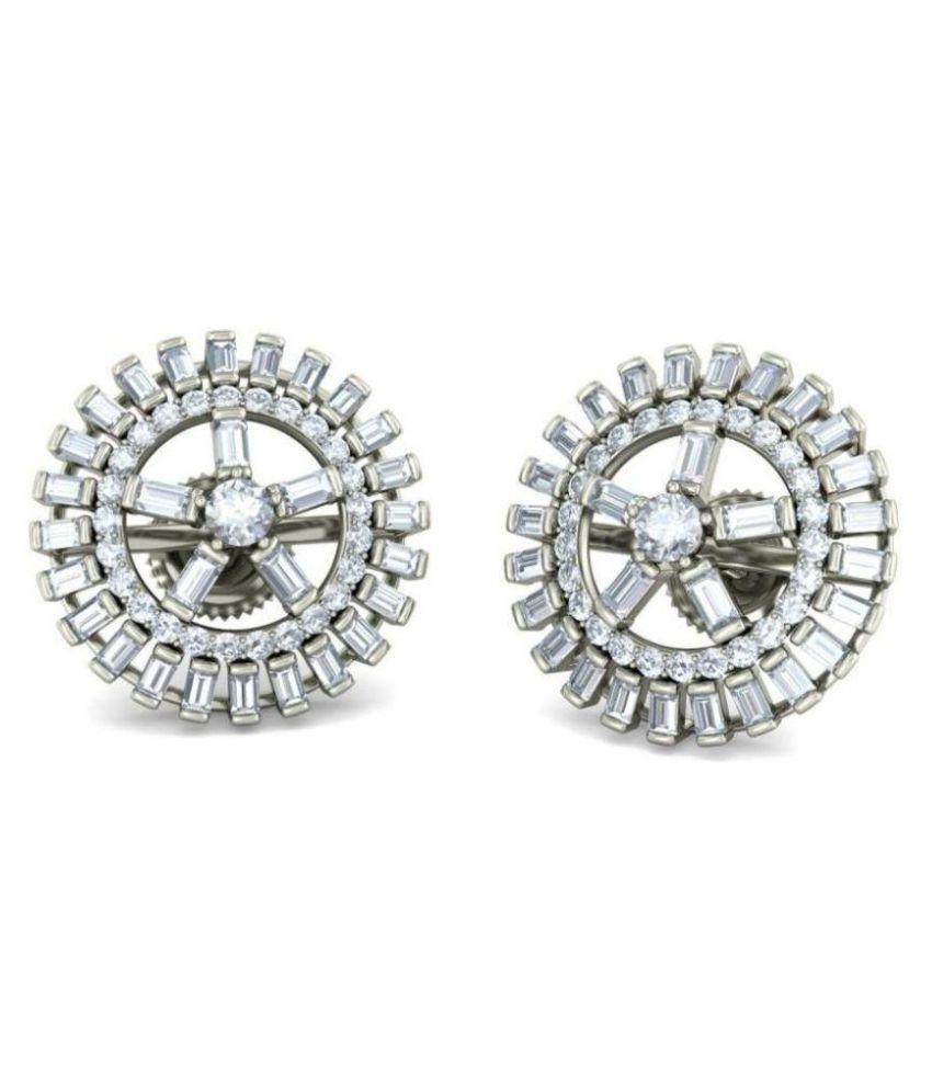Future India Elegant Cubic Zirconia Alloy Stud Earring