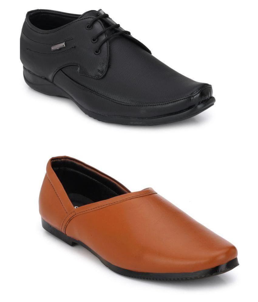 Swiss Formal Shoes Black Formal Shoe Combo