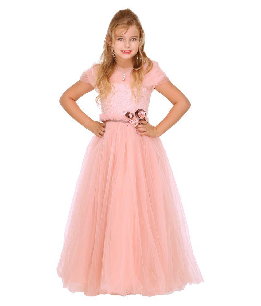 Cutecumber Girls Partywear Net Gown