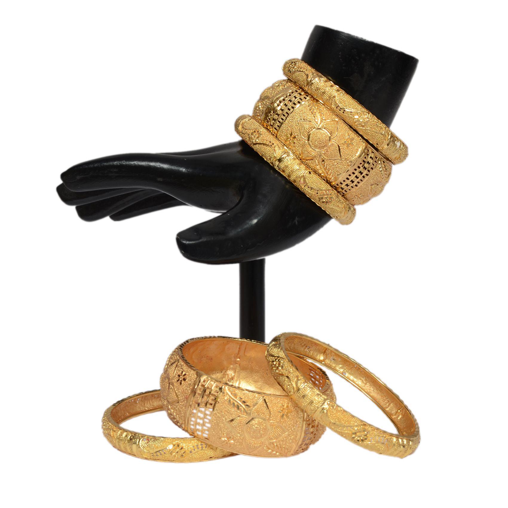 Mansiyaorange Original Look One Gram Gold Bangles For Women: Buy ...