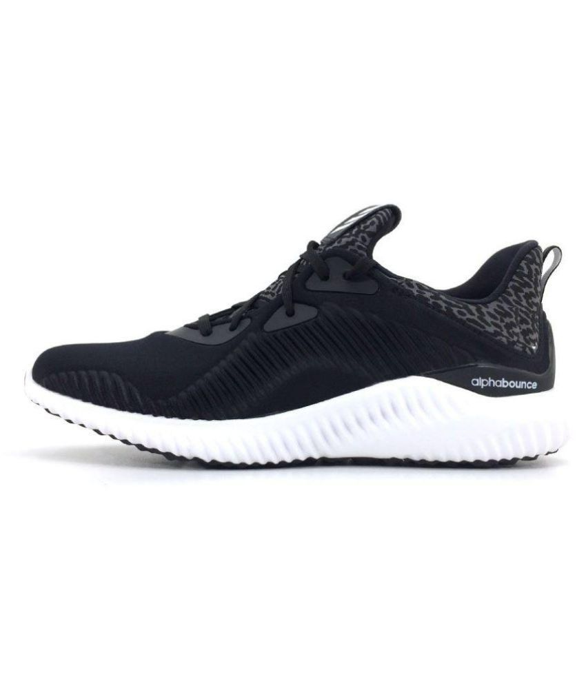 ca3b5f52ebbe ADIDAS PERFORMANCE Alphabounce Men s Black Running Shoes - Buy ADIDAS  PERFORMANCE Alphabounce Men s Black Running Shoes Online at Best Prices in  India on ...