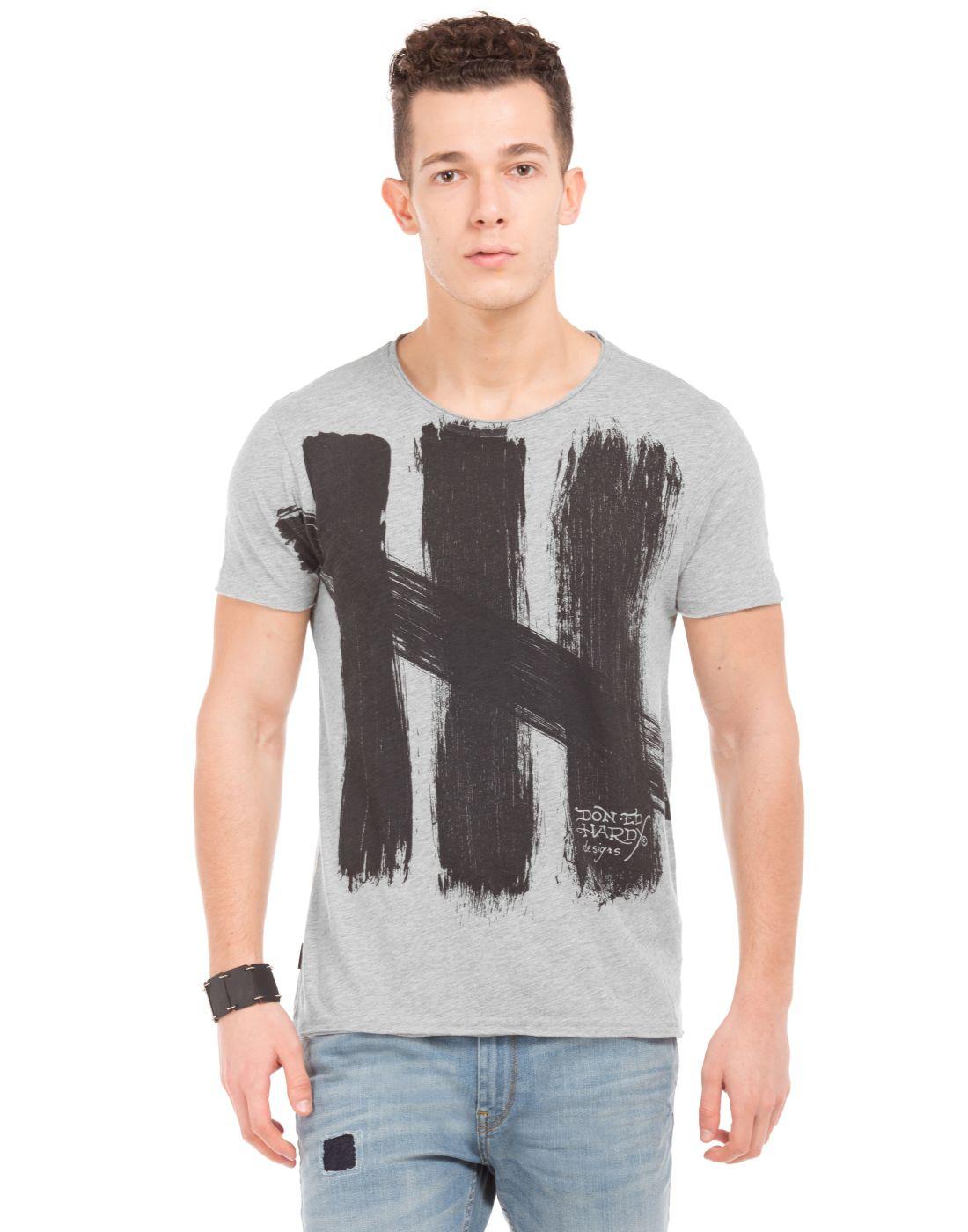 Ed Hardy Grey Round T-Shirt