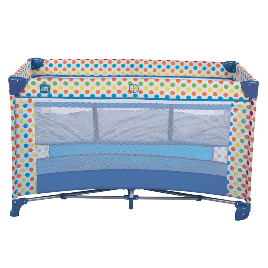 Mee Mee Compact 2 in 1 Play Pen & Crib (Blue)