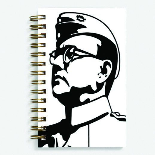 Netaji Bose - Spiral Diary (Paperback)193 sheets 70 GSM Matte Art Paper Amazing to giftfor all occasionsby Unique Indian Crafts
