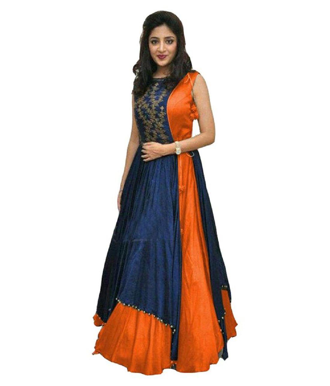 Sky Global Multicoloured Bangalore Silk Dress Material