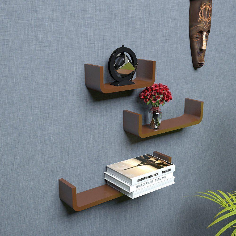 woodworld Floating Shelf/ Wall Shelf / Storage Shelf/ Decoration Shelf Brown - Pack of 1