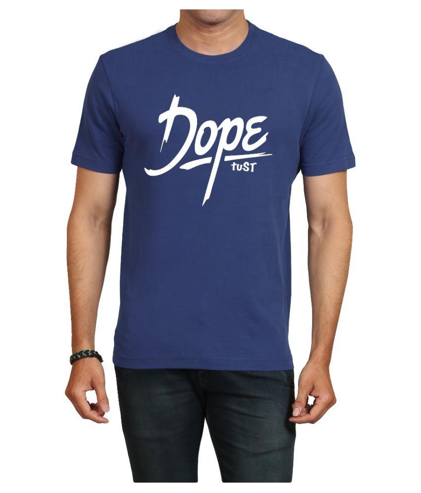 IND TWIST Blue Round T-Shirt Pack of 1