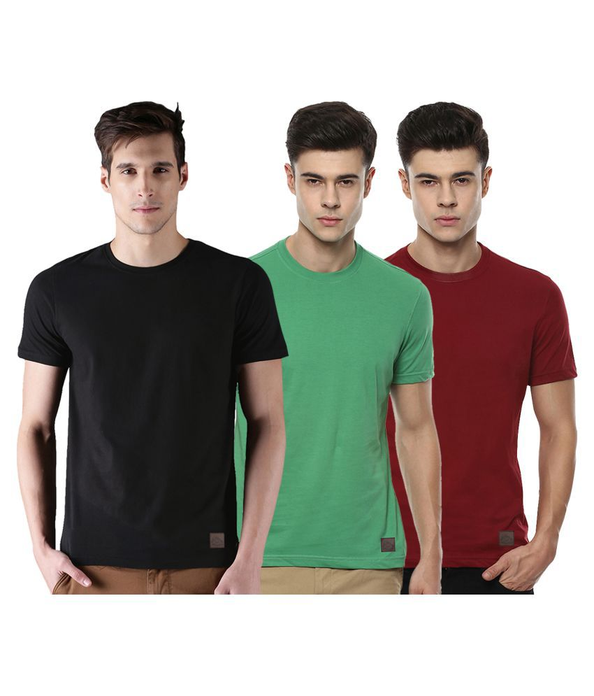 Polo Nation Multi Round T-Shirt Pack of 3