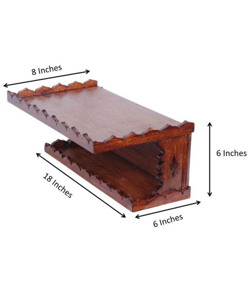 Jeevan Raj Veer Chen Floating Shelf/ Wall Shelf / Storage Shelf/ Decoration Shelf Brown - Pack of 1