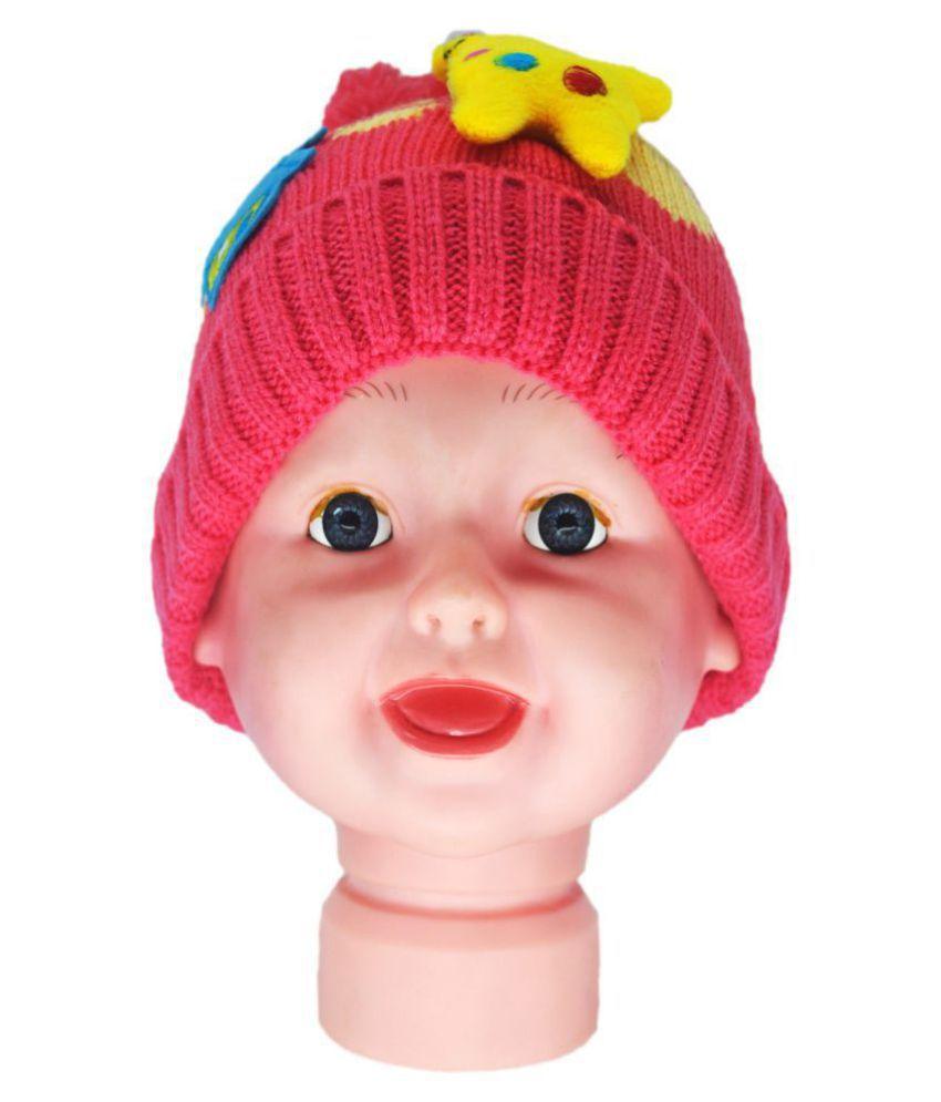Kids Winter Cap / Woolen Cap ( Orange )