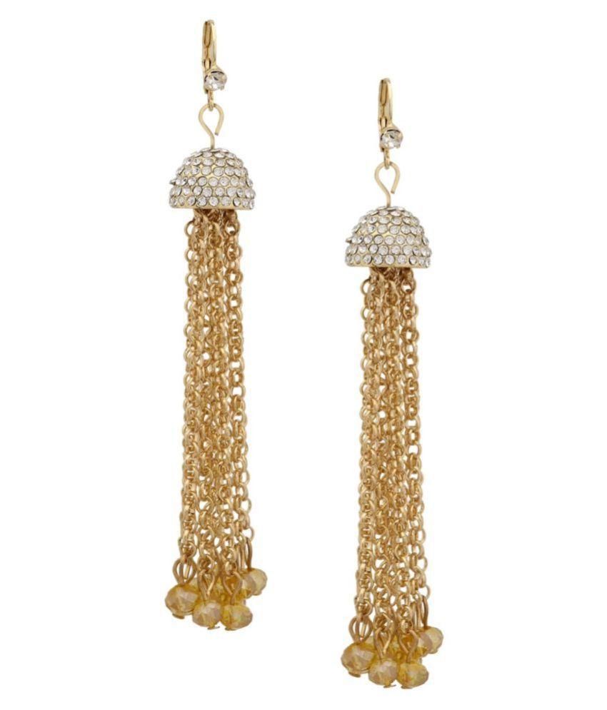 af3b979b7c405 Tipsyfly Alloy Spring-ring clasp Glam Tassel Earrings Tassel Earring for  women