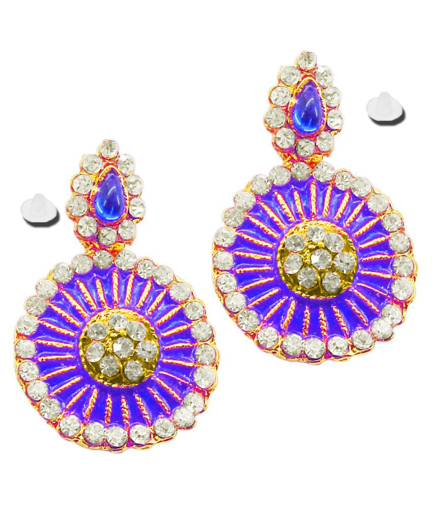 Tommy Vans-New Bollywood Designer and Anniversary or Partywear Blue Earrings