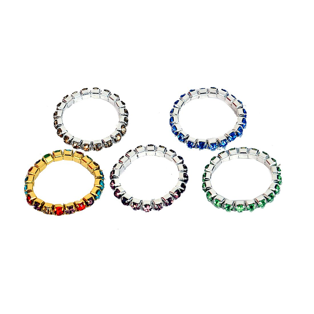 Studded Toe Ring for Women and girls ( pack of 5 )
