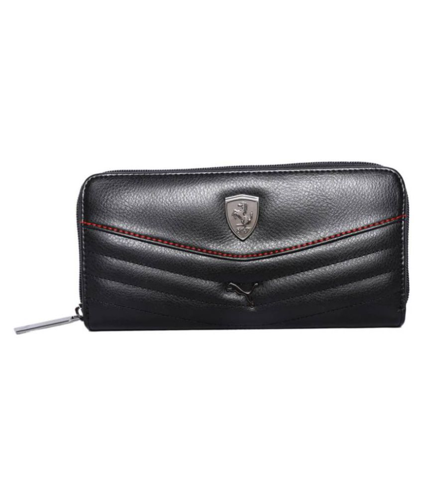 c571d975e8 Buy Puma Black Faux Leather Box Clutch at Best Prices in India - Snapdeal