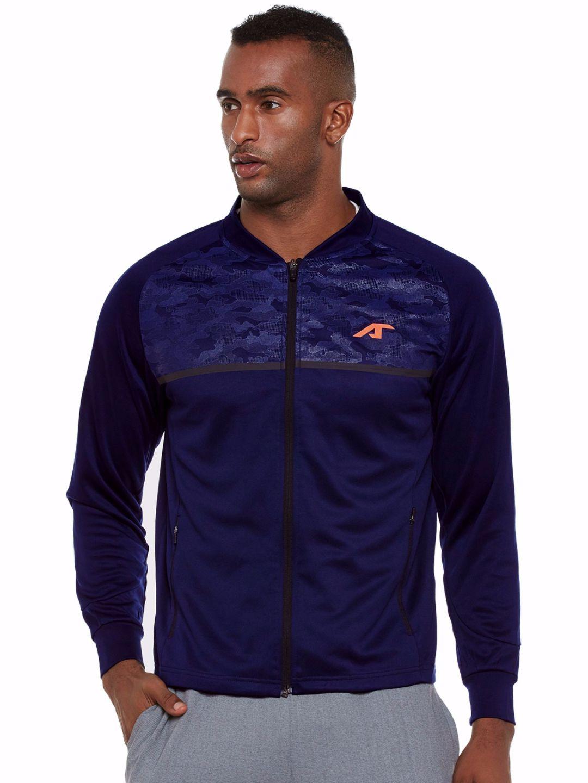 Alcis Men Navy Camou Sweat Jacket