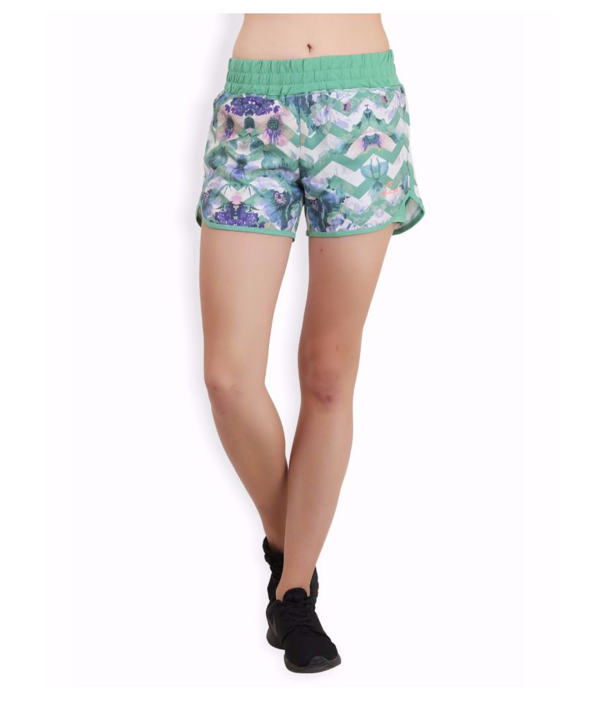 Alcis Women Green Floral Shorts