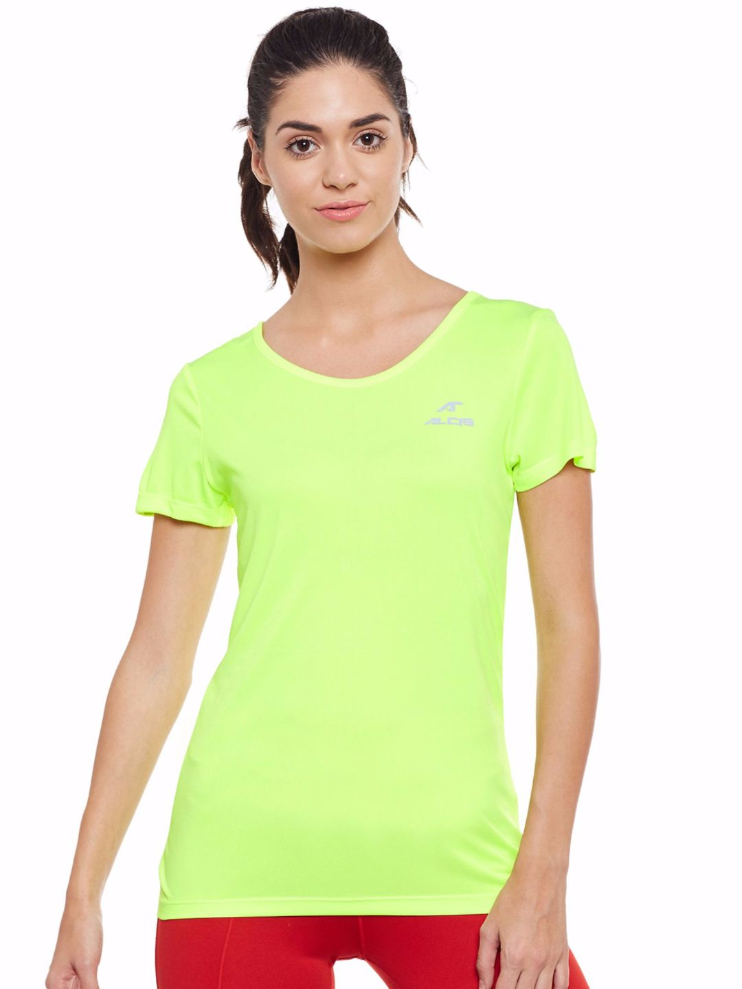 Alcis Women Green Wonder Tee