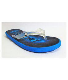 LADY CROWN Blue Slide Flip flop