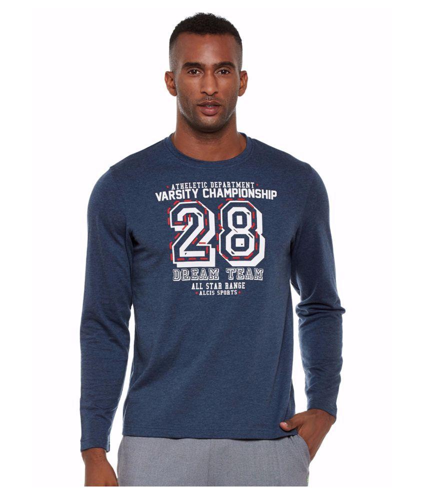 Alcis Men Blue Varsity Sweatshirt