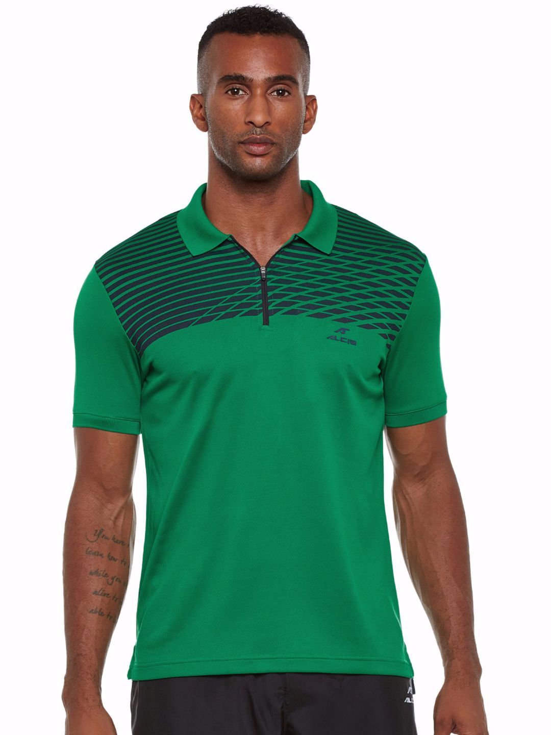 Alcis Men Green Court Polo