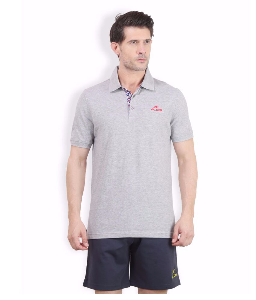 Alcis Men Grey Peter Polo