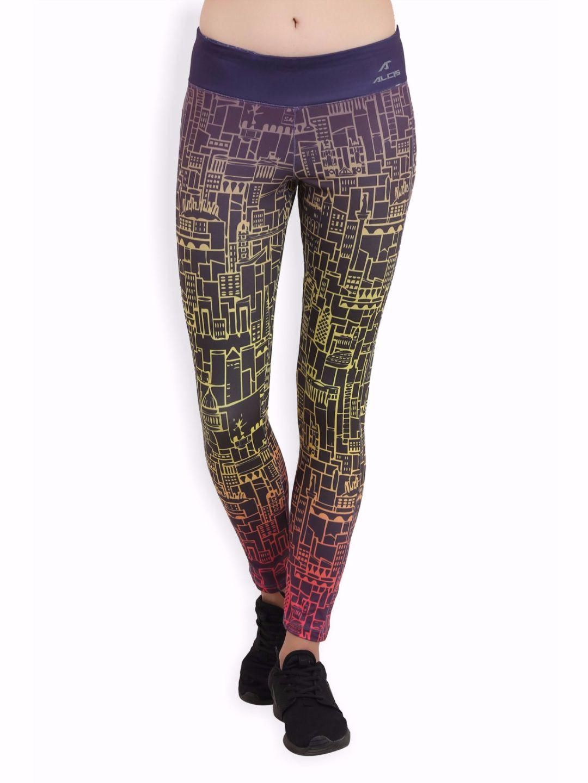 Alcis Women Multi Coloured Leggings