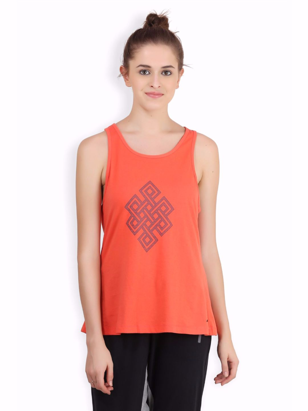 Alcis Women Orange Infinity Top