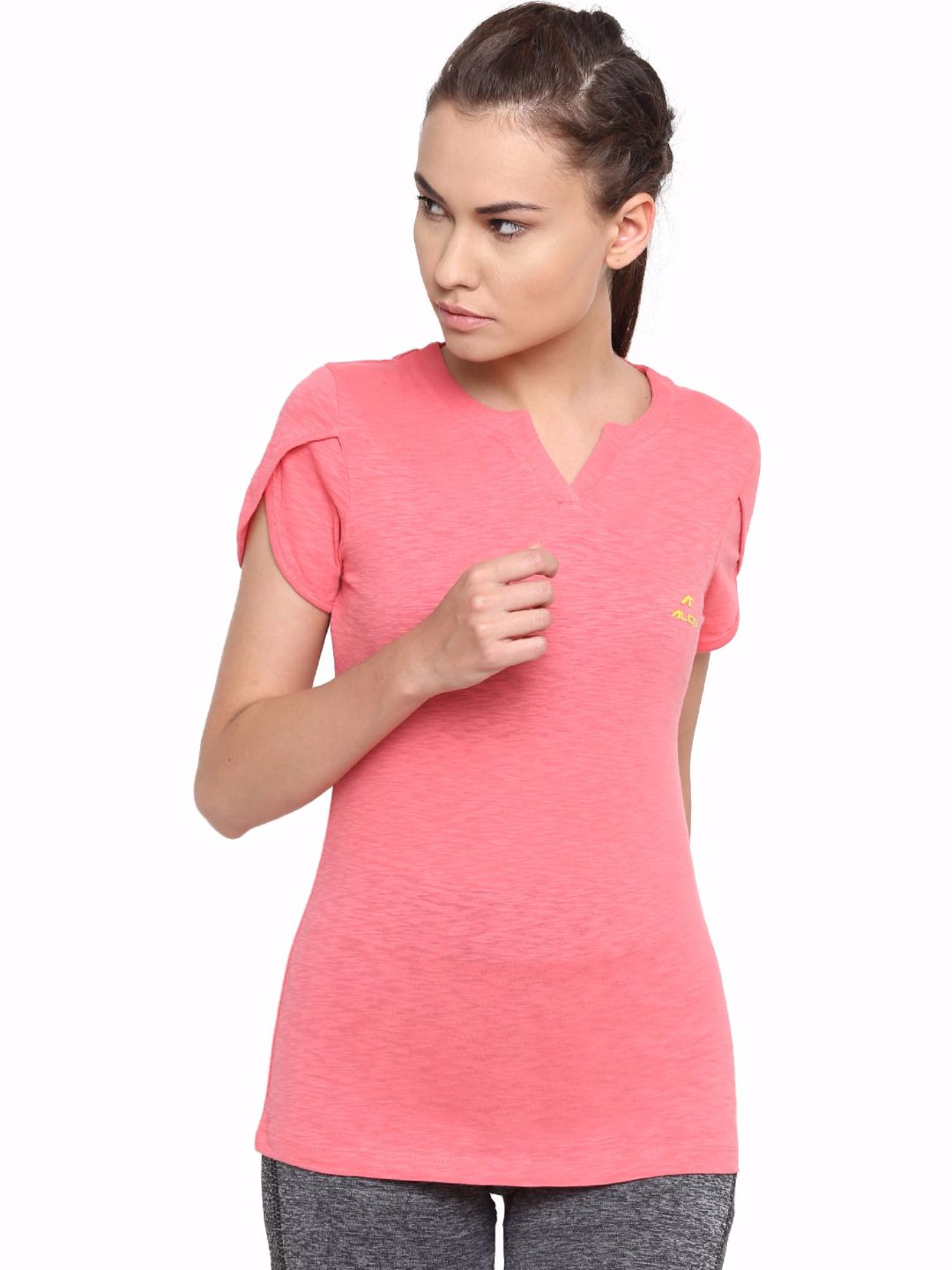 Alcis Women Pink Cotton Tee