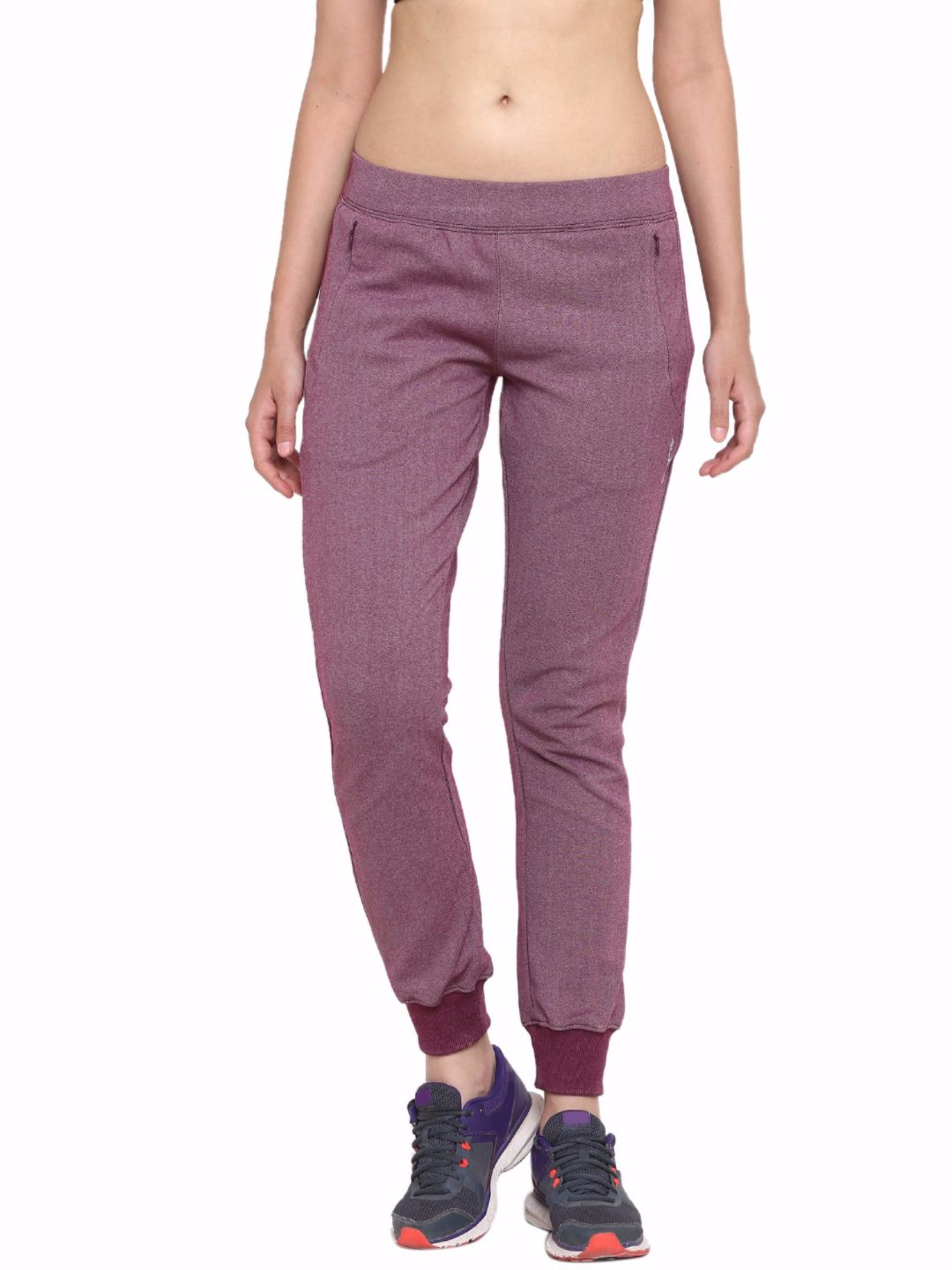 Alcis Women Purple Train Hard Trackpants