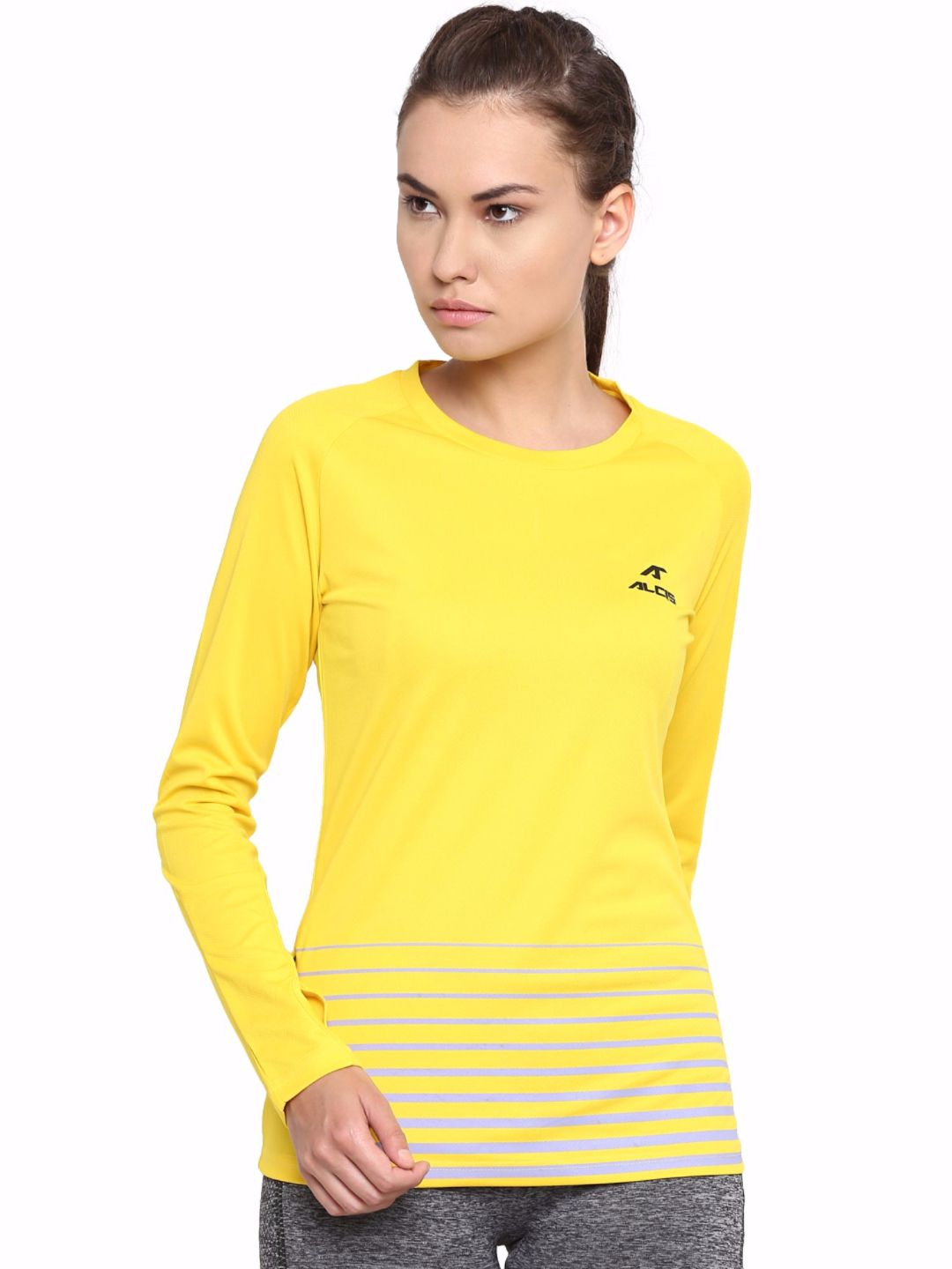 Alcis Women Yellow Long Sleeve Tee