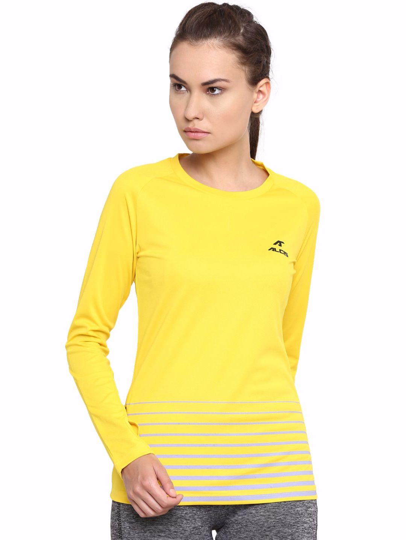 Alcis Women Yellow Long Sleeve Tee