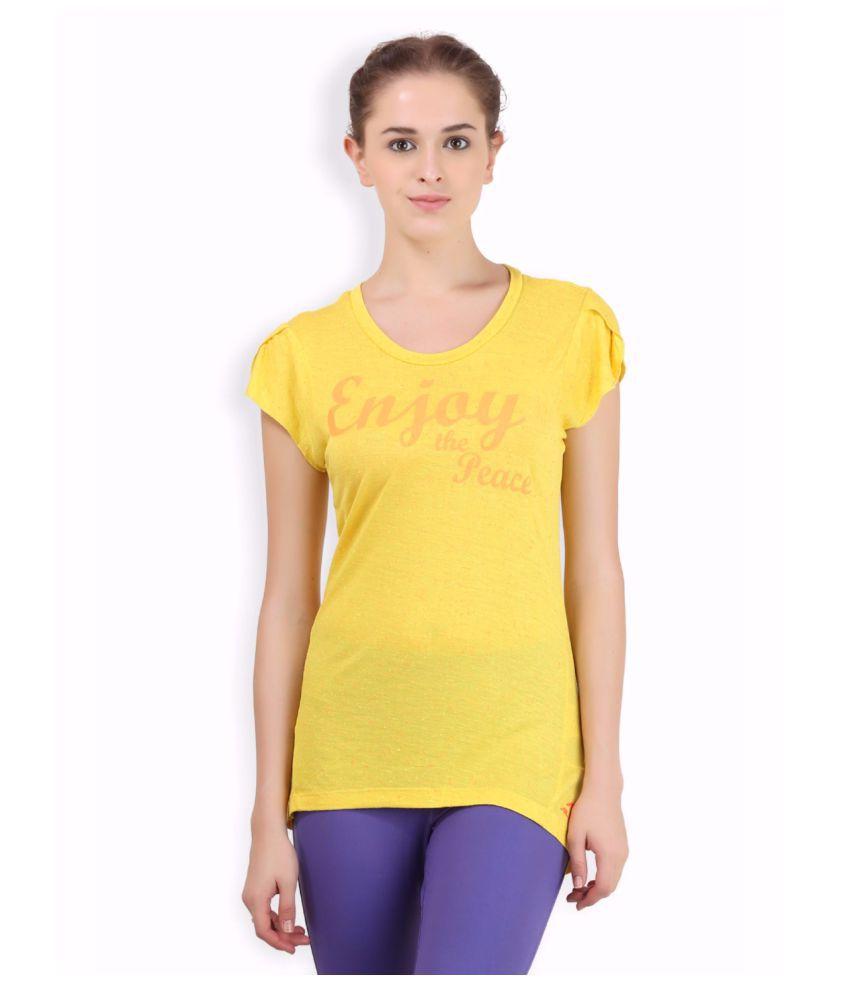 Alcis Women Yellow Peace Tee
