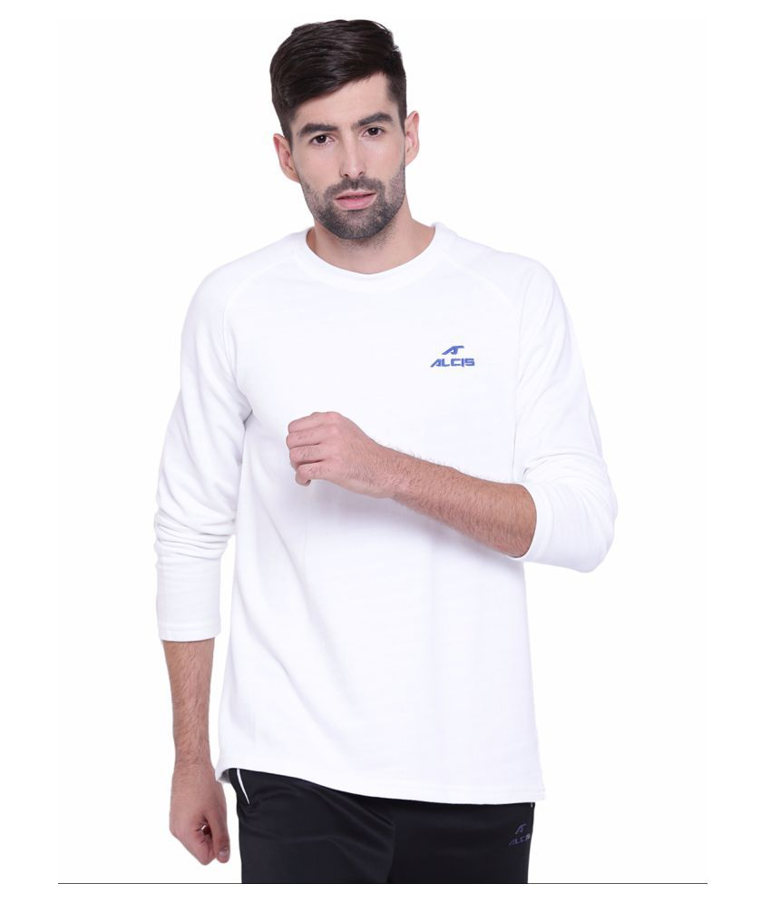Alcis Mens White Sweatshirt