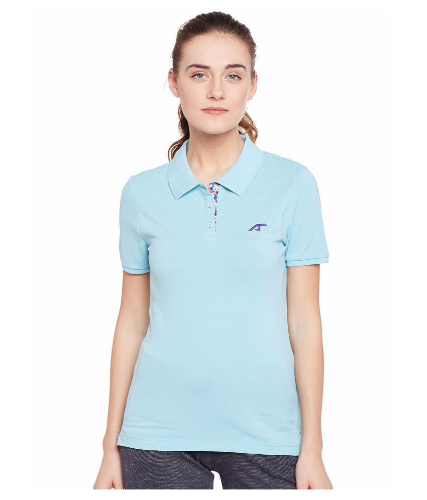Alcis Womens Blue Polo Tshirt