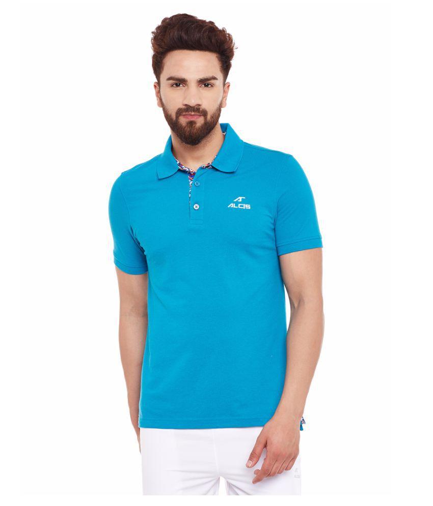 Alcis Mens Blue Polo Tshirt